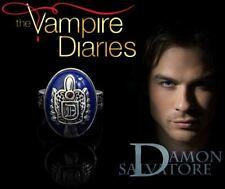 The Vampire Diaries, Damon Salvatore, Crest, Antique Silver, Lapis Daylight Ring