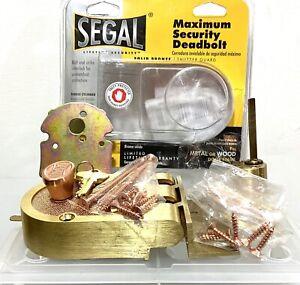 FREE SHIPPING! Prime-Line Brushed Brass Solid Bronze Alloy Deadbolt SE 15361
