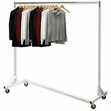 """Simple Houseware Industrial Grade Z-Base Garment Rack, 400lb Load With 62"""" Extra"""