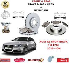 para AUDI A5 Hatch 1.8 TFSI 2012- > Delante DISCOS Y PASTILLAS DE FRENO TRASERO