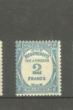 "FRANCE STAMP TIMBRE TAXE N° 61 "" 2F BLEU "" NEUF xx TB"