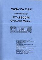 NEW Yaesu FT-2800M Operating Manual Book in English
