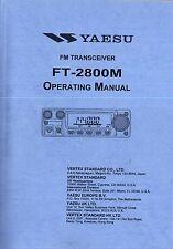 NEW Yaesu FT-2800M Operating Manual Book in English