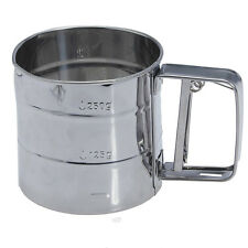 Stainless Steel Flour Sifter Cup Baking Icing Sugar Shaker Strainer Sieve T1