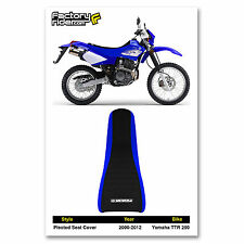 2000-2012 YAMAHA TTR 250 Blue/Black PLEATED SEAT COVER BY Enjoy MFG