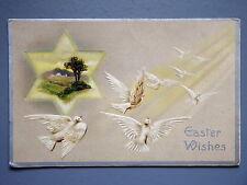 R&L Postcard: Art Study, Easter Embossed Dove Type Birds, Davidson Bros
