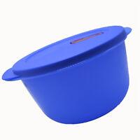Tupperware Crystalwave Microwave Plus Round Bowl Blue 8.5 Cups