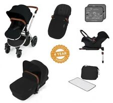 Ickle Bubba Stomp V3 Isofix All in One Travel System - Black on Silver Frame