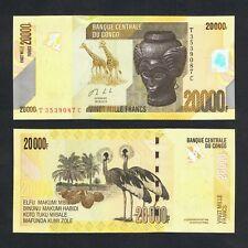 2013 CONGO DEMOCRATIC REPUBLIC 20,000 20000 FRANCS P-104b UNC>GIRAFFES PALM TREE