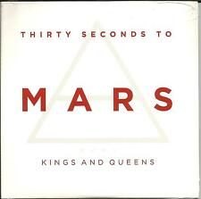 THIRTY SECONDS TO MARS Kings and Queens EDIT UK CD single SEALED USA Seller 30