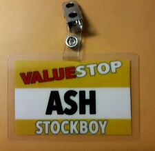 Ash vs Evil Dead Id Badge Valuestop Stockboy Ash cosplay costume Army Darkness