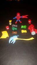 Marvel Super Hero Mashers Micro figures lot - Wolverine, Red Hulk, Spider Man