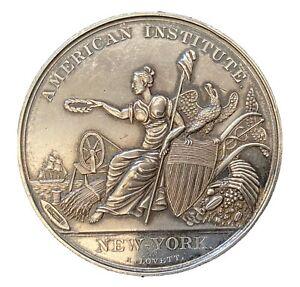 1851 American Institute New York Inventors Award Coin JC Bertholf W/ Orig. Box
