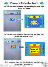 Clean and Dirty Magnetic Dishwasher Sign Set Reversible (Dishwasher Buddy)