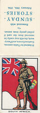 1916 THE KING & HIS SOLDIERS SUNDAY STORIES COMPLETE SILK - SOUTH AFRICA