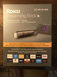 Roku Streaming Stick+ 4K HDR Media Streamer with Voice Remote Factory Sealed!!