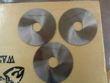 Slitting saws screw slotters 3 sizes 40mm OD 10mm bore .2mm .4mm  .6mm HSS