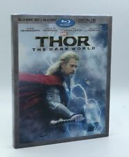 Thor: The Dark World 3D (Blu-ray 3D+Blu-ray+Digital HD) NEW w/ Rare Slipcover
