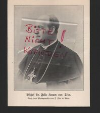 1903 Portrait obispo Dr. Felix Korum de Tréveris