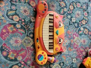 B Toys – Meowsic Toy Piano – Children's Keyboard Cat Piano with Toy Microphone