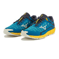 Mizuno Mens Wave Ibuki 3 Running Shoes Trainers Sneakers Blue Yellow Sports