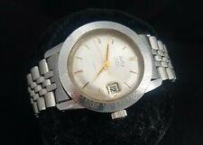 Arly 15 ATM vintage dive watch, ETA 2472 stainless steel case, jubilee bracelet