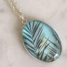 Tropical Leaf Necklace - Palm Tree
