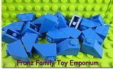 New LEGO Lot of 20 Blue 2x1 SLOPE Roof Tile Brick Pieces Part 3040