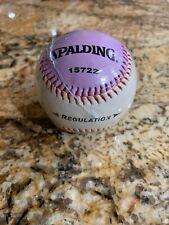 9 Inch Professional Training Practice Baseball Team Sports White Purple New