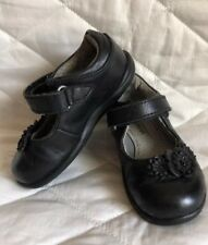 Stride Rite Srt Kennedy Toddler Girl's Black Leather With flowers Mary Jane sz 5