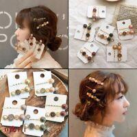 2x Flower Rhinestone Imitation Pearl Hairpin Hair Clip Fashion Hair Accessory