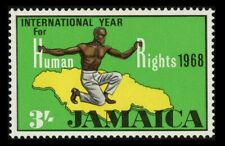 Jamaica 3/- Human Rights Error missing flame variety, SG274a NH
