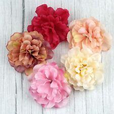 Artificial Flower Silk Rose Carnation 11cm Peony Heads Bulk Wedding Home Decor