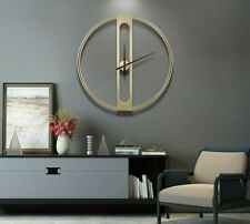 Large 50cm 70cm Diameter 3D Wall Black Gold Clock Metal Home Decor Modern 2020