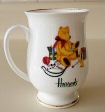 Vintage Harrods Christmas Teddy Bear Mug