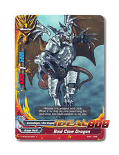 Buddyfight x 4 Raid Claw Dragon - BT02/0076EN (C) Common Mint Future Card
