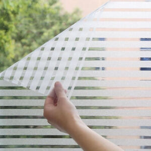 Frosted Strips Window Film Privacy Sticker Home Office Glass Cover Self Adhesive