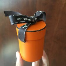 Hermes Round/Cylinder Gift Box W/ Ribbon (Small) For Twilly Scarf or More