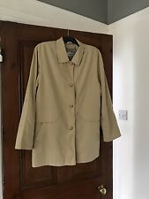 Klass Collection Size 16 Fawn Coloured Rain Coat . Lined. Light Weight3/4 Length
