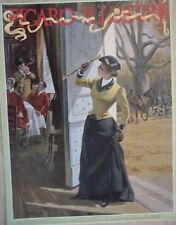 PAGE COUVERTURE TIREE  FIGARO ILLUSTRE 1895 TABLEAU GEORGES ROUX CHASSE A COURRE