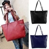 Women's Designer Leather Style Tote Bag Shoulder Satchel Handbag Bags Shopper WO