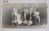 1910s WWI Era Ohio Wesleyan University Athletic Team RPPC Real Photo Postcard
