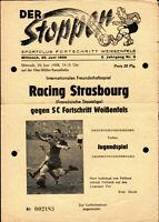 20.06.1956 SC Fortschritt Weißenfels - Racing Strasbourg