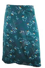 Womens Mantaray Pencil Knee Length Skirt Flower Print Teal Green Size 8 to 22