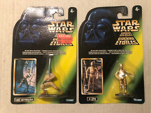Star Wars Die Cast Kenner Figures Luke Skywalker & C3PO Mint Action Masters