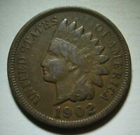 1902 Indian Head Cent in Average Circulated Condition    DUTCH AUCTION