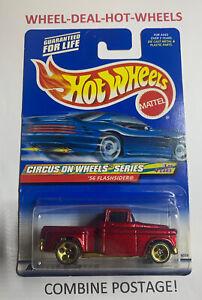 HOT WHEELS 2000 CIRCUS ON WHEELS '56 FLASHSIDER RARE COLLECTIBLE NO.025 MOC!