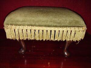 Vintage Small upholstered Footstool Foot