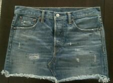Ralph Lauren RRL Distressed Selvedge Denim Skirt 28