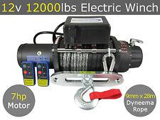 12V 12000lbs Electric Winch 9mm x 28m Dyneema Rope 4WD 4x4 13000lb 12000lb